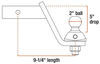 curt trailer hitch ball mount 2 inch one drop - 6 rise 4 c43kr
