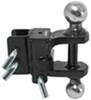 curt trailer hitch ball mount fixed drop - none rise adjustable clevis and pintle hook combo with 2 inch 2-5/16 balls 6 000 lbs