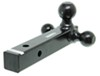 "Curt Multi-Ball Mount for 2"" Hitches - Solid, Black Powder Coated Shank - Black Balls Steel Shank C45650"
