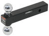 curt trailer hitch ball mount 2 inch 2-5/16 two balls drop - none rise