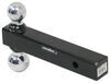 """Curt Solid 2-Ball Mount for 2"""" Hitches - 2"""" and 2-5/16"""" Balls - 10K - Chrome Fits 2 Inch Hitch C45665"""