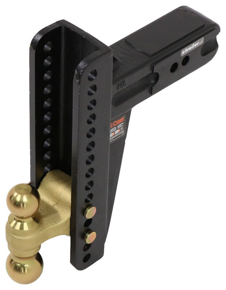 """Curt Adjustable 2-Ball Channel Mount - 3"""" Hitch - 10-5/8"""" Drop, 8-5/8"""" Rise - 21K 21000 lbs GTW C45928"""