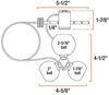 Curt Universal Application Lock Trailer Coupler Locks - C48CR