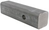 curt hitch fabrication parts fits 2 inch solid steel bar with raw finish - 8 long