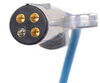 curt tow bar wiring splices into vehicle extension cord w/ socket - coiled 7-way rv to 4-way round 96 inch