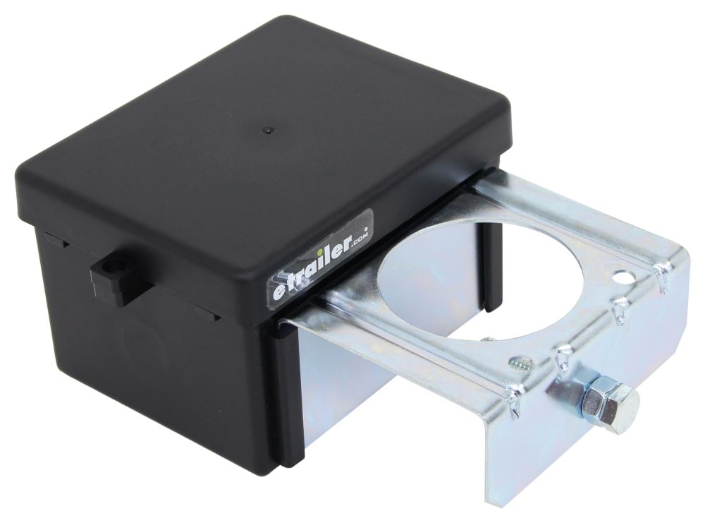Replacement Battery Box w/ Built-In Mounting Bracket for Curt Soft Trac II Breakaway Kits - Top Load Battery Box C52029