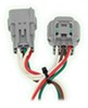 Curt T-Connector Vehicle Wiring Harness for Factory Tow Package - 4-Pole Flat Trailer Connector Converter C55260