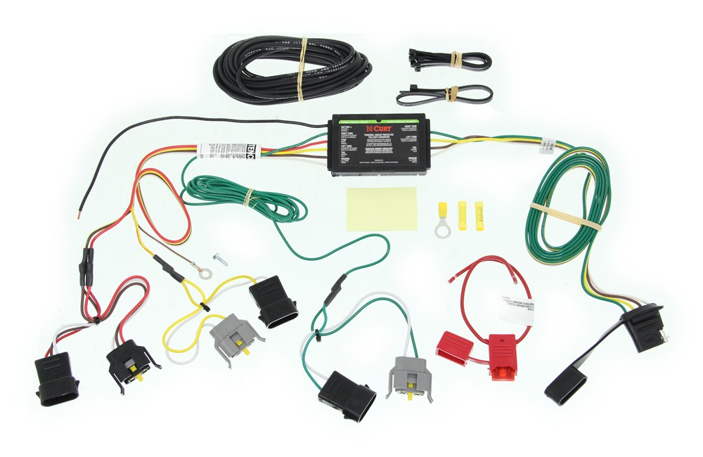 [SCHEMATICS_4FR]  Curt T-Connector Vehicle Wiring Harness with 4-Pole Flat Trailer Connector  Curt Custom Fit Vehicle Wiring C55345   Curt Tconnector Vehicle Wiring Harness With 4pole Flat Trailer      etrailer.com