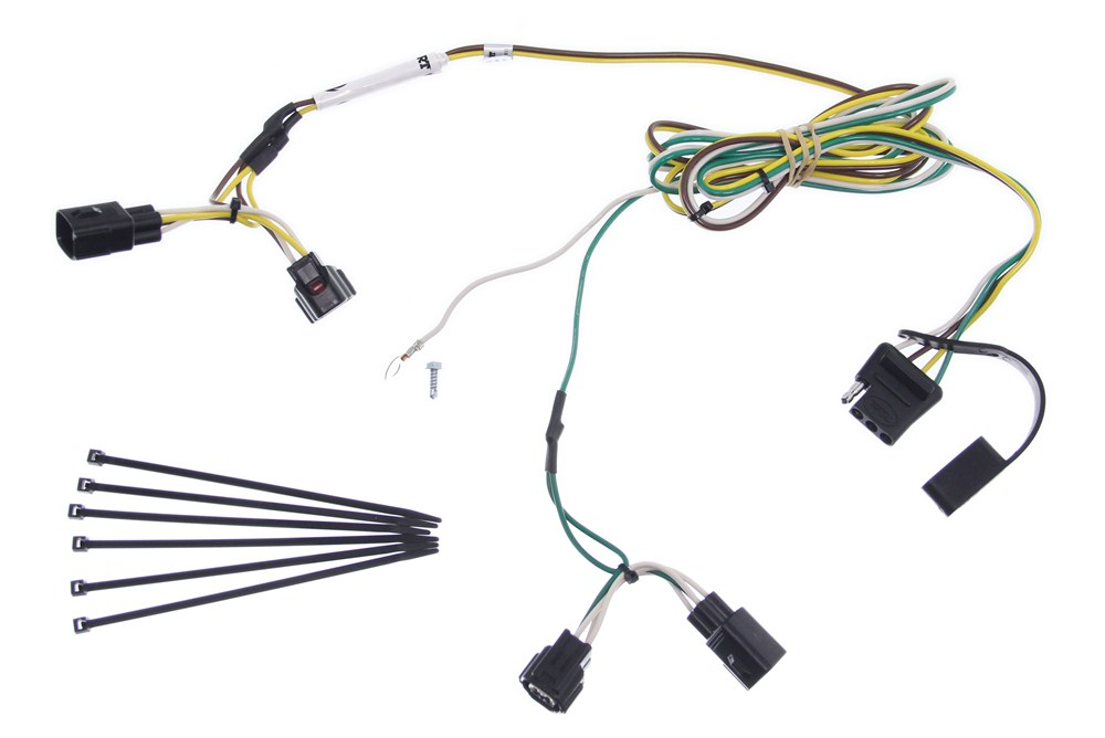 [DIAGRAM_34OR]  Curt T-Connector Vehicle Wiring Harness with 4-Pole Flat Trailer Connector  Curt Custom Fit Vehicle Wiring C55363 | 2006 Jeep Wrangler Trailer Wiring |  | etrailer.com