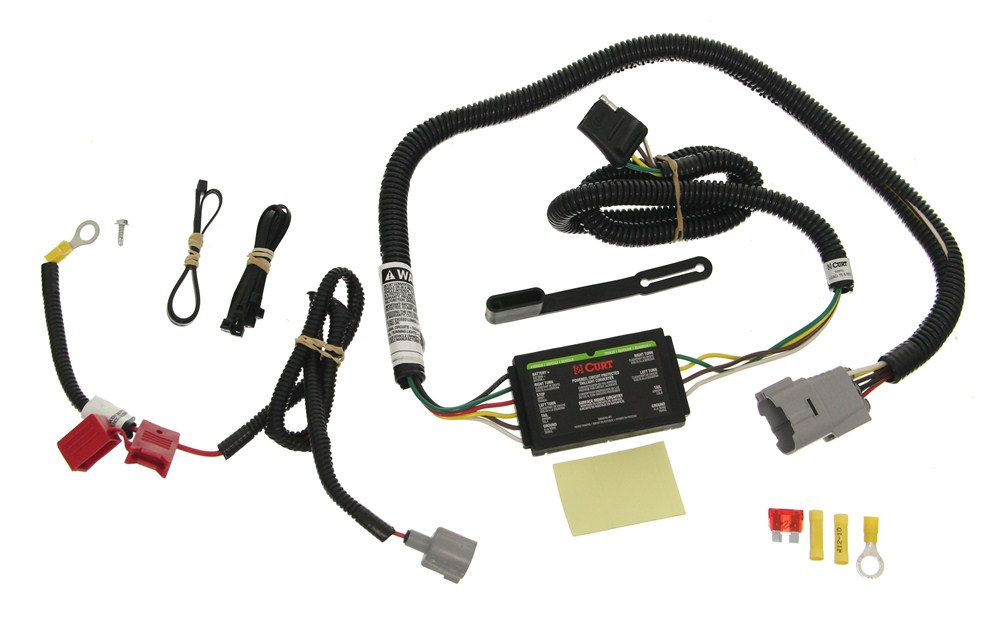 toyota tundra curt t-connector vehicle wiring harness with 4-pole flat trailer  connector  etrailer.com