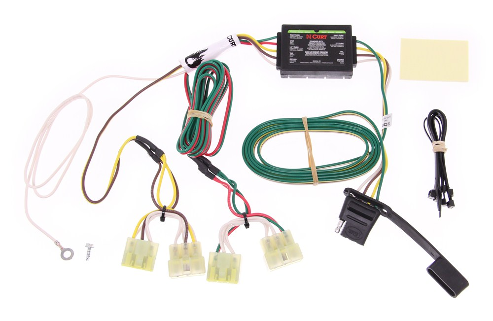 [DIAGRAM_5UK]  Curt T-Connector Vehicle Wiring Harness with 4-Pole Flat Trailer Connector  Curt Custom Fit Vehicle Wiring C55379 | Curt 4 Wire Trailer Wiring Diagram |  | etrailer.com