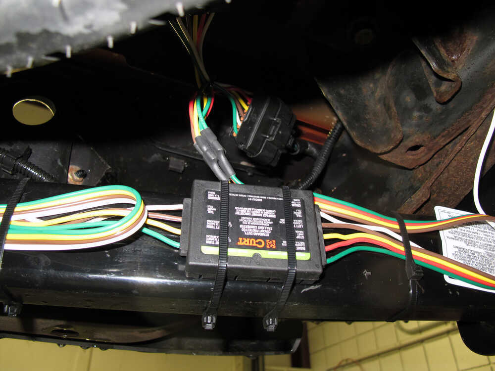 Curt T-Connector Vehicle Wiring Harness with 4-Pole Flat Trailer Connector  Curt Custom Fit Vehicle Wiring C55510 | 2015 Chevy Colorado Trailer Wiring Harness |  | etrailer.com