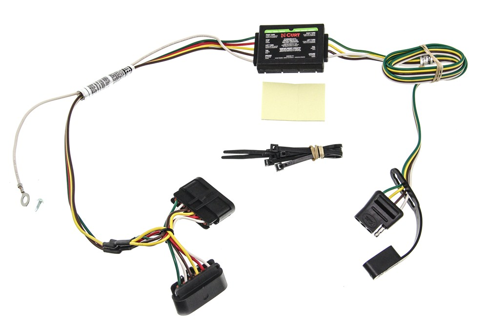 Chevrolet Colorado Curt T-Connector Vehicle Wiring Harness with 4-Pole Flat Trailer  Connector | 2015 Chevy Colorado Trailer Wiring Harness |  | etrailer.com