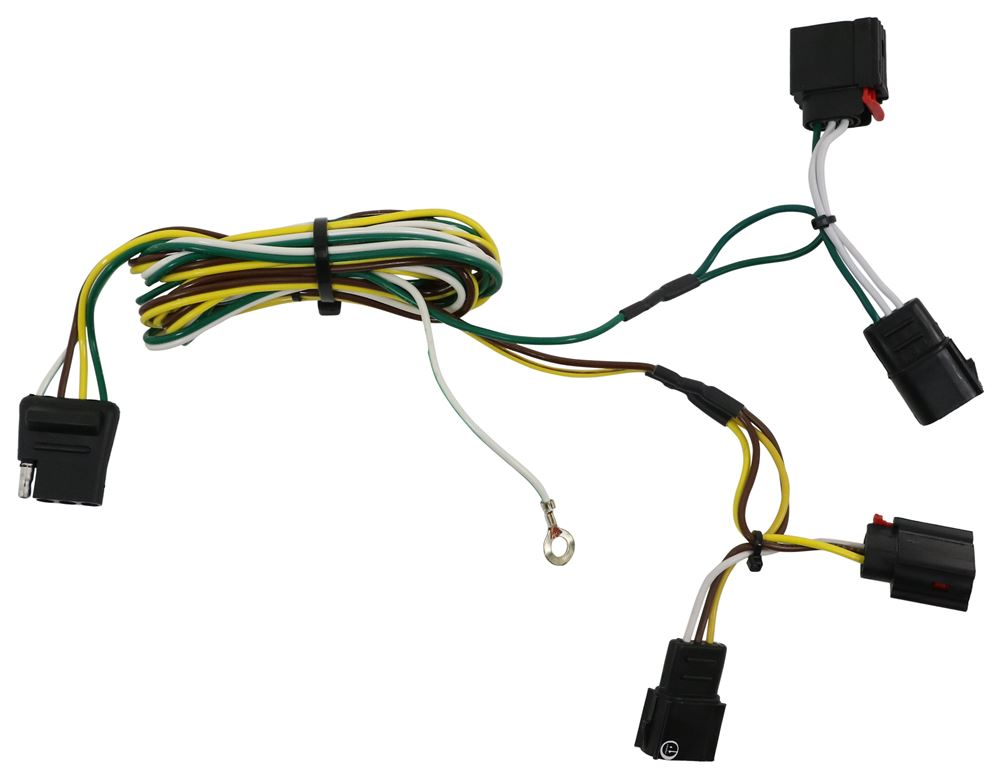 Curt T Connector Vehicle Wiring Harness With 4 Pole Flat Trailer Connector Curt Custom Fit Vehicle Wiring C56009