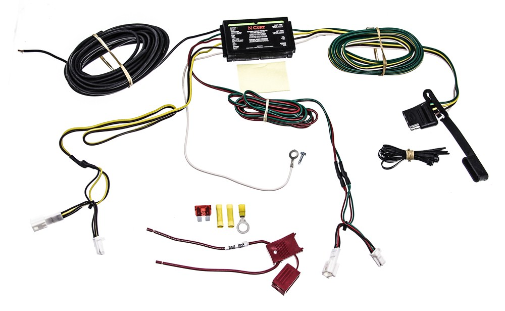 Curt T-Connector Vehicle Wiring Harness with 4-Pole Flat Trailer Connector  Curt Custom Fit Vehicle Wiring C56074etrailer.com