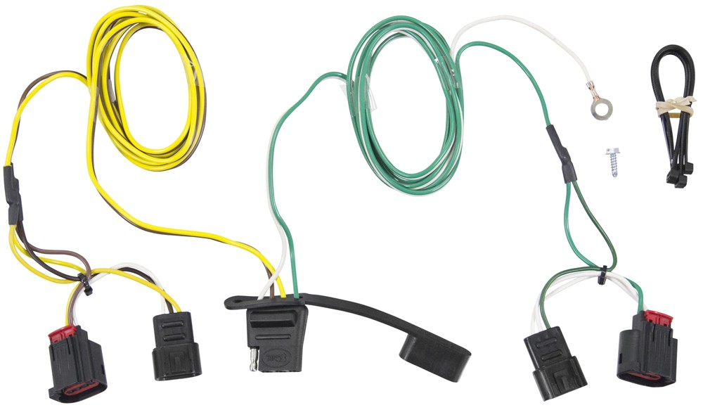 [SCHEMATICS_48ZD]  Dodge Journey Curt T-Connector Vehicle Wiring Harness with 4-Pole Flat  Trailer Connector | Dodge Journey Wiring Harness |  | etrailer.com