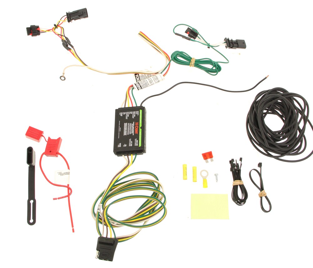 [DIAGRAM_4PO]  Curt T-Connector Vehicle Wiring Harness with 4-Pole Flat Trailer Connector  Curt Custom Fit Vehicle Wiring C56181   Curt Tconnector Vehicle Wiring Harness With 4pole Flat Trailer      etrailer.com