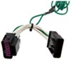 curt custom fit vehicle wiring trailer hitch t-connector harness with 4-pole flat connector