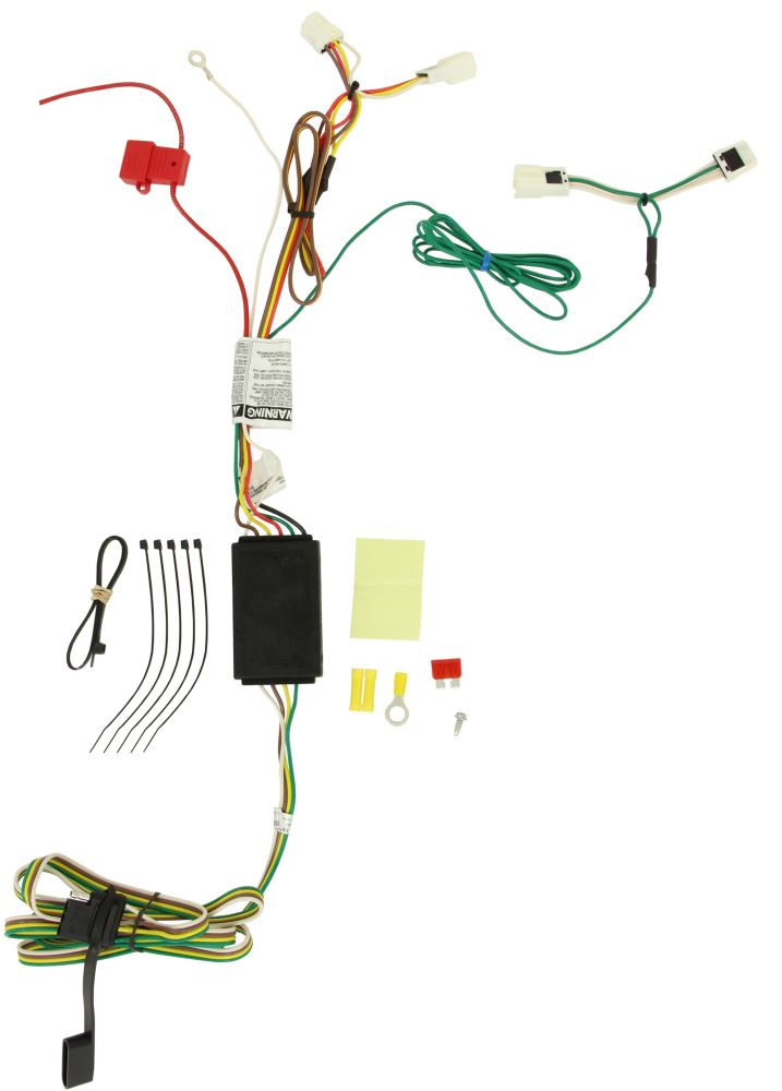 Curt T Connector Vehicle Wiring Harness With 4 Pole Flat Trailer Connector Curt Custom Fit Vehicle Wiring C56267