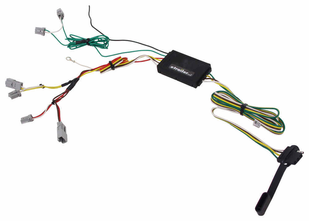 Curt T Connector Vehicle Wiring Harness With 4 Pole Flat Trailer Connector Curt Custom Fit Vehicle Wiring C56310