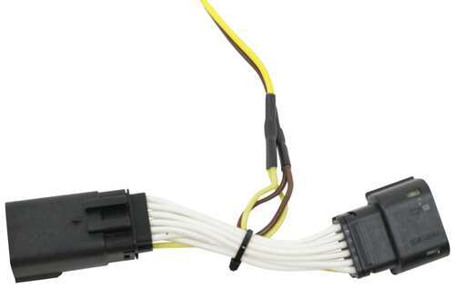 Curt T Connector Vehicle Wiring Harness With 4 Pole Flat Trailer Connector Curt Custom Fit Vehicle Wiring C56407