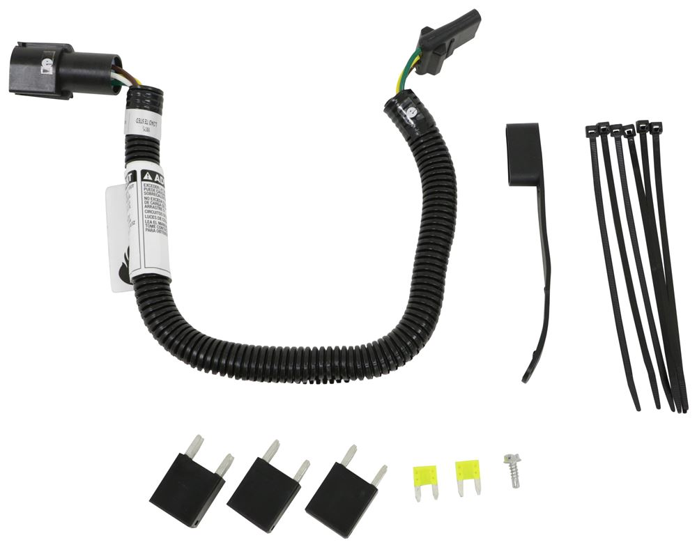 Curt T-Connector Vehicle Wiring Harness for Factory Tow Package - 4-Pole  Flat Trailer Connector Curt Custom Fit Vehicle Wiring C56673etrailer.com