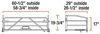 curt truck bed extender 60 inch width steel c57wr
