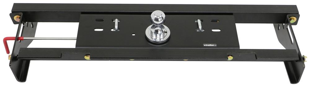 Curt Double Lock, Flip and Store Underbed Gooseneck Hitch w/ Installation Kit - 30,000 lbs Wheel Well Release C60721