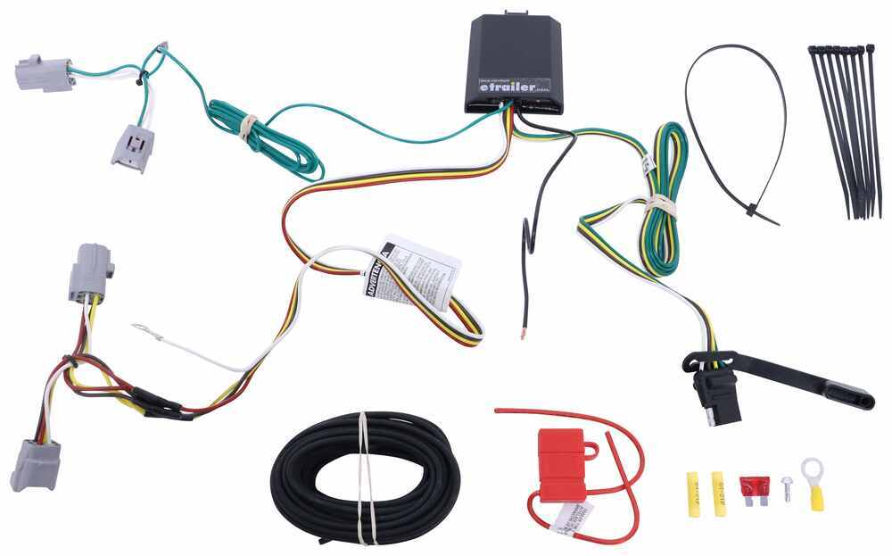 Curt T-Connector Vehicle Wiring Harness with 4-Pole Flat Trailer Connector 4 Flat C76CR