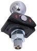 curt trailer hitch ball  shock absorbing rockerball 2-5/16 inch - 1 diameter shank chrome 7.5k