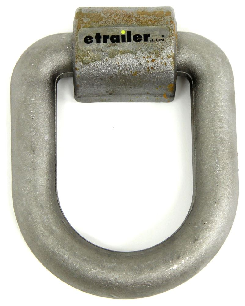 """Curt Heavy Duty D-Ring Tie Down - Weld On - 6"""" Wide Tie-Down Cleats and Rings C83780"""