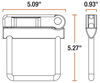 curt hitch anti-rattle universal fits 2-1/2 inch c87ur
