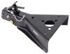 """A-Frame Trailer Coupler w/ Round Jack Hole - Squeeze Latch - Black - 2-5/16"""" Ball - 15,000 lbs Weld-On CA-5280-RB"""