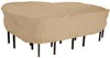 """Classic Accessories Cover for Patio Table-and-Chair Set - Terrazzo Collection - 106-1/2"""" Long Tan CA58262"""