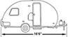 classic accessories rv covers storage deluxe polypro iii heavy-duty cover for r pod trailer up to 16-1/2' long