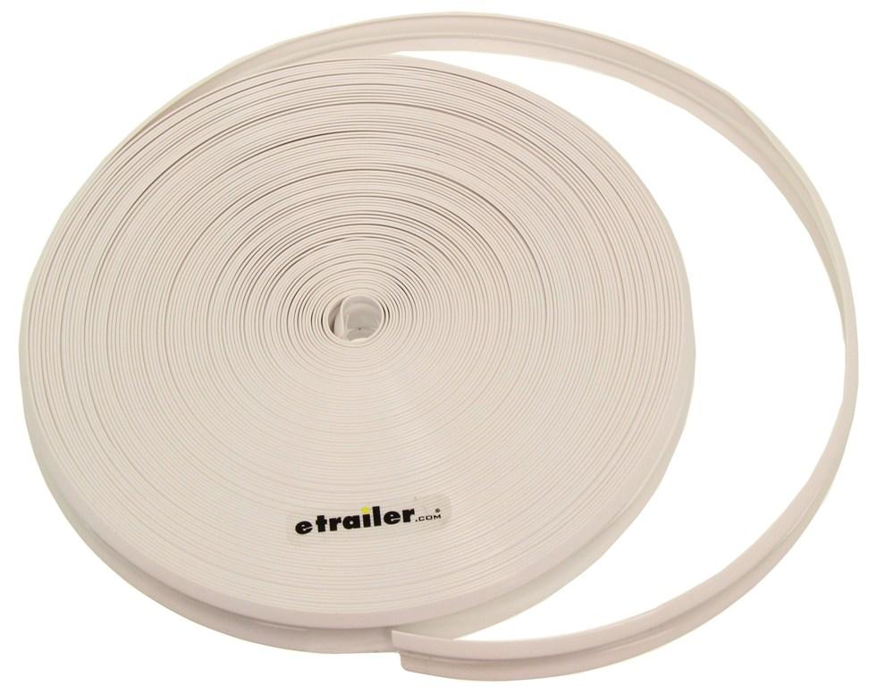 Camco Rv Vinyl Trim Insert White 100 Long X 1 Wide Camco Rv Exterior Cam25202
