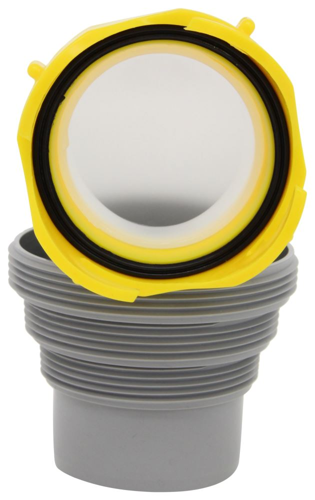 Revolution RV Sewer Hose Swivel Elbow w/ 4-in-1 Adapter Elbow Fitting CAM39471