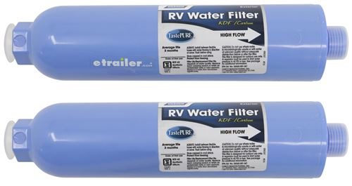 Camco Rv And Marine Disposable Water Filters Kdf Carbon Qty 2 Camco Rv Fresh Water Cam40045