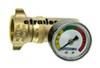Camco RV Water Pressure Regulator w/ Gauge - Brass CAM40064