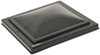 camco rv vents and fans roof vent replacement lid for jensen w/ pin-style hinge - polypropylene smoke