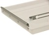 camco rv vents and fans roof vent continuous hinge replacement lid for elixir - polypropylene white