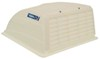 camco rv vents and fans roof vent cover enclosed trailer w/ detachable louvered screen - white