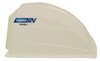 camco rv vents and fans roof vent enclosed trailer cover w/ detachable louvered screen - white