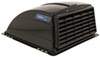 camco rv vents and fans roof vent cover enclosed trailer w/ detachable louvered screen - black