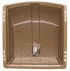 camco rv vents and fans roof vent enclosed trailer cover w/ detachable louvered screen - champagne