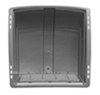 camco rv vents and fans roof vent enclosed trailer cover w/ detachable louvered screen - silver
