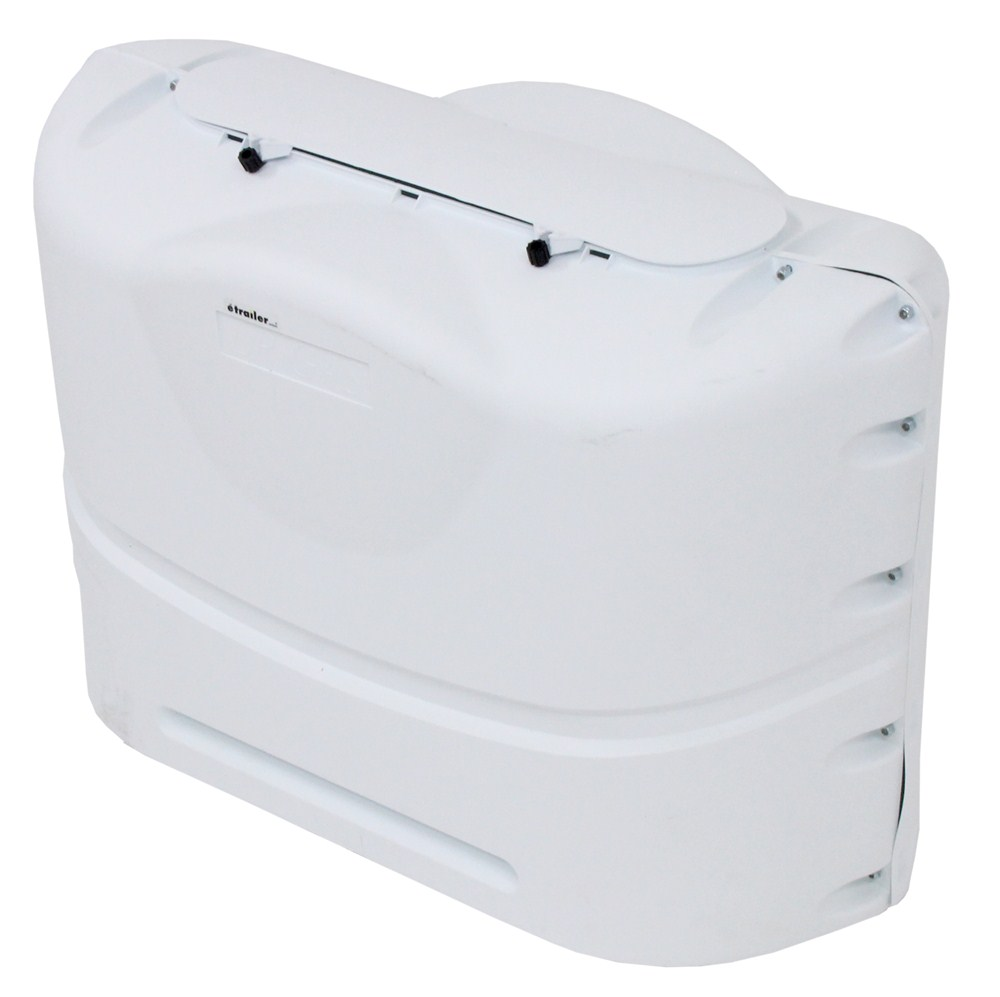 Camco Rv Polyethylene Propane Tank Cover For 2 20 Lb Steel Tanks Polar White Camco Rv Covers Cam40523
