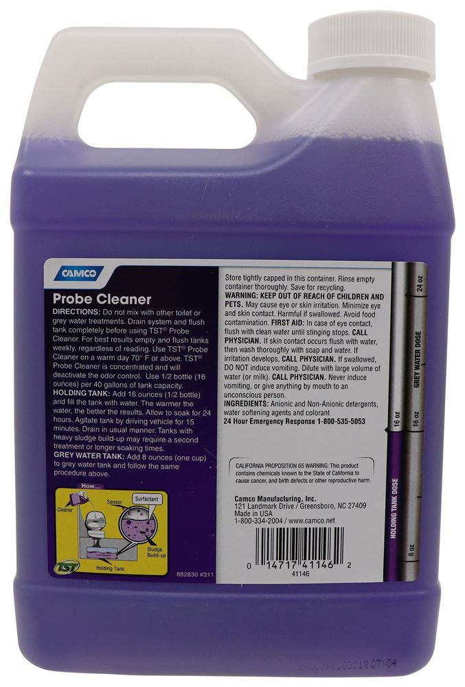 Tst Rv And Marine Super Concentrated Waste Holding Tank Probe Cleaner 32 Oz Camco Rv Sewer Cam41146