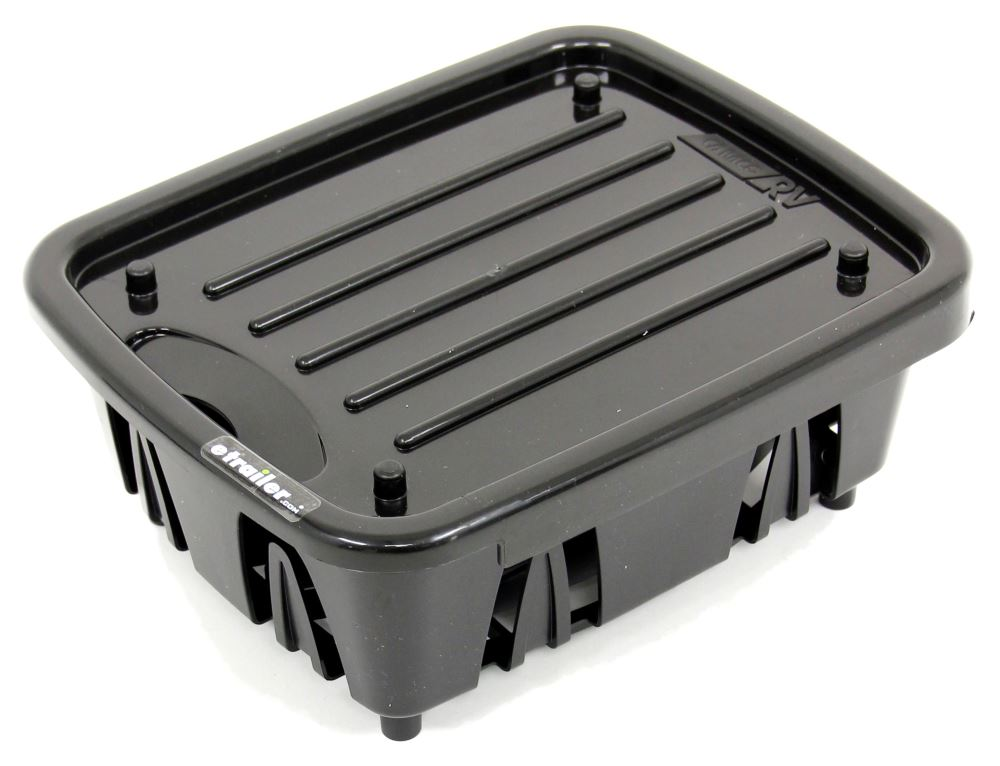 Camco Mini Dish Drainer With Tray For Rv Kitchens 11 11 16 Long X 9 1 2 Wide Black Camco Kitchen Accessories Cam43512