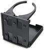 camco kitchen accessories storage and organization adjustable drink holder - black